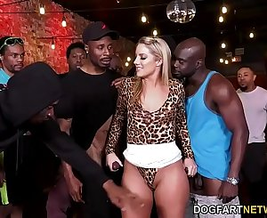 BBC Slut Candice Dare Survives Interracial Gangbang In A Bar