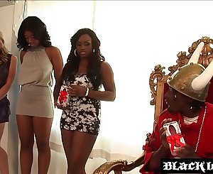Busty dark-hued spanks her big ass while bouncing on BBC