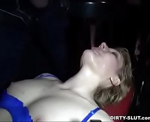 Wife in porn Cinema with a lot of strangers.