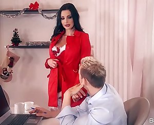 Big-titted bomshell Aletta Ocean gets her pussy and asshole fucked by two studs