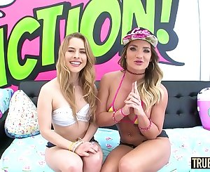 TRUE Ass fucking Horny anal threesome with Cali and Lilly